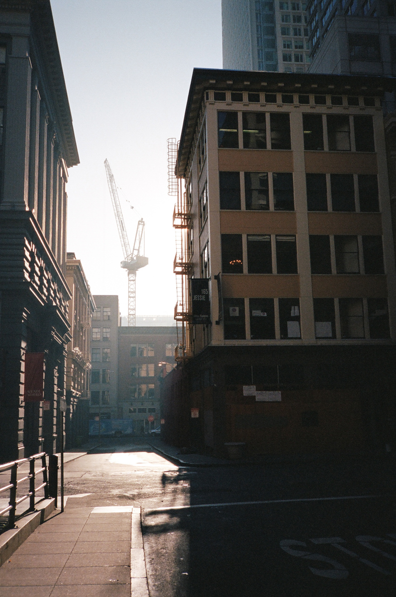 one of the many cranes in downtown san francisco